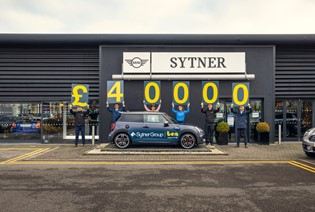 SYTNER SUPPORT BEN WITH £40K DONATION