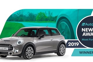 MINI HATCH NAMED MOST FUN TO DRIVE. 2019 AUTOTRADER NEW CAR AWARDS.