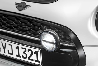 MINI PIANO BLACK ADDITONAL HEADLIGHTS.
