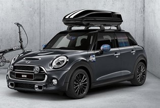 MINI ROOF BOX WITH ROOF BARS & SPORTS AERIAL