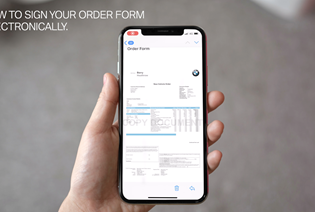 Electronically Signing Your Order Form.